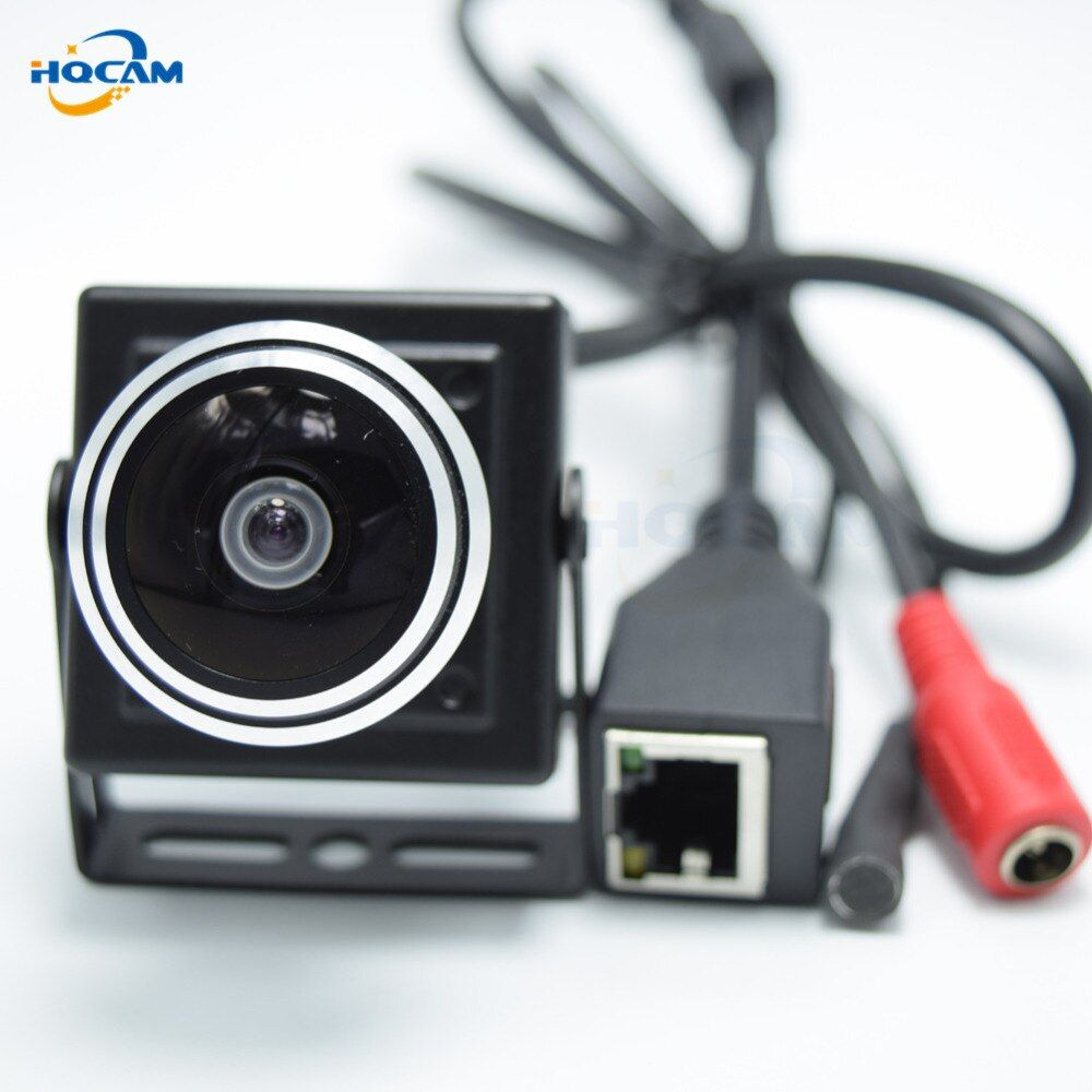 HQCAM 1080P Audio video camera MINI IP camera H.264 microphone camera P2P network 1.78mm Fisheye Lens Wide Angle Fisheye Lens