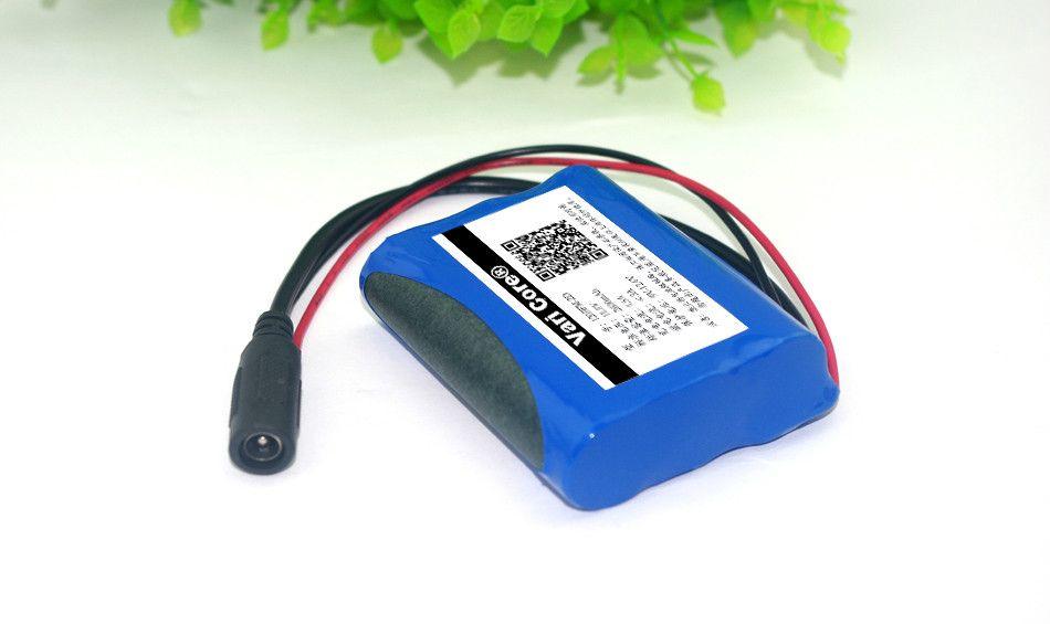 12 V 2600 mAh batterie lithium-ion 12.6 V à 11.1 V CCTV caméra batterie Rechargeable pack 18650 batteries