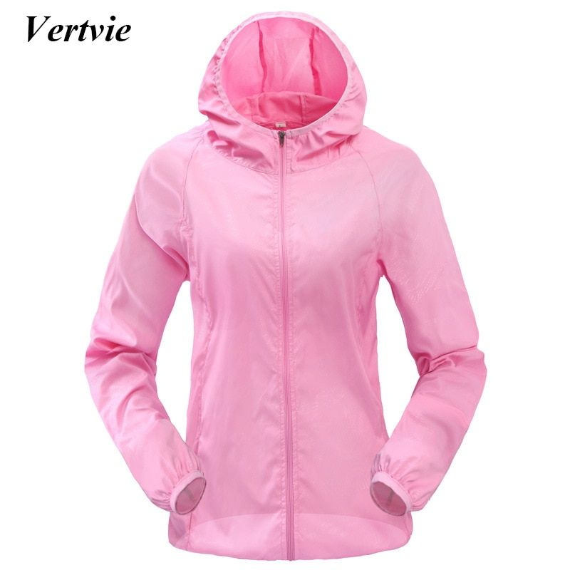 Vertvie Frauen Männer Outdoor-sportarten Winddicht Quick Dry Lauf Jacke Sonnenschutz Atmungsaktiv Regen Jacke Top Candy Farbe Dünnschliff