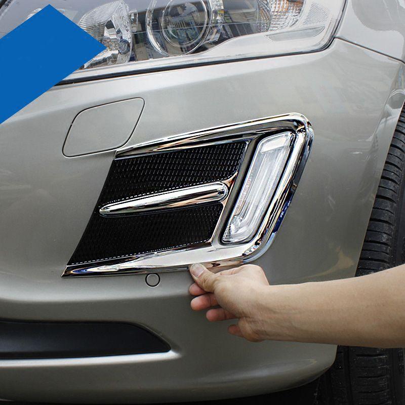 KOUVI ABS Chrome avant antibrouillard couvercle de lumière garniture accessoires pour Volvo XC60 2014 2015 2016 voiture style