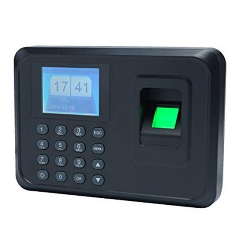 Hotsale 1000 utilisateurs 2.4 pouce TFT Écran d'empreintes digitales temps de présence Des Employés Biométrique Time Recorder Avec U-disque Logiciel Libre