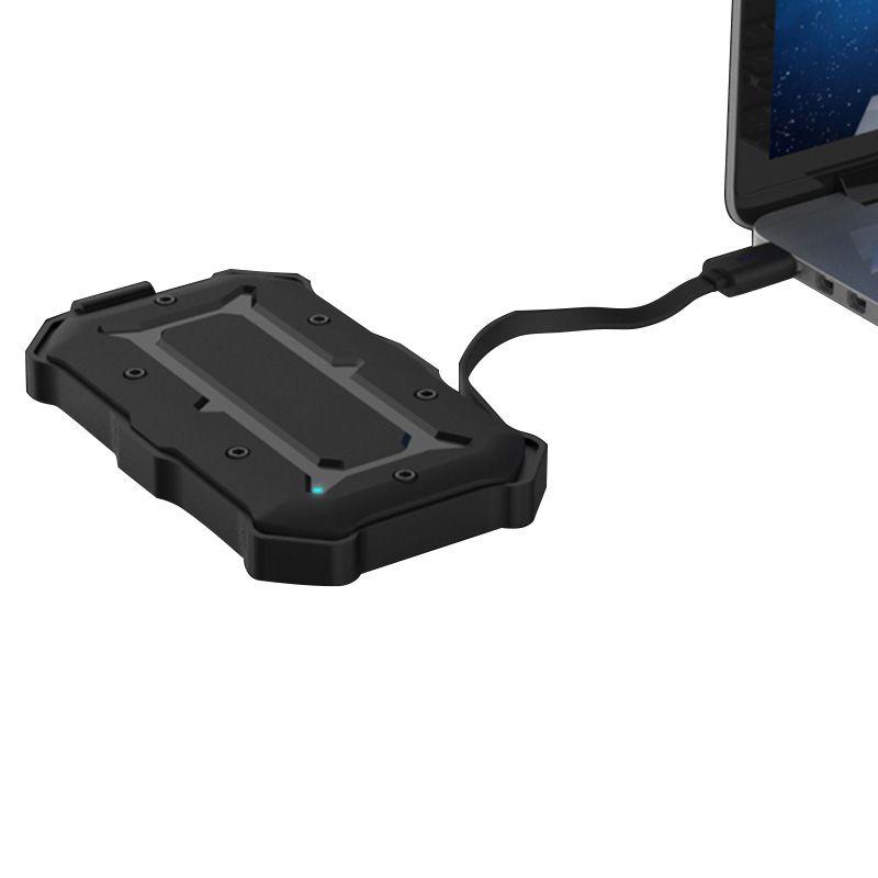Wasserdicht Stoßfest Exteenal HDD Einschließung USB3.0 + UASP SATA Universal 2,5 zoll HDD Gehäuse Mit Kabel