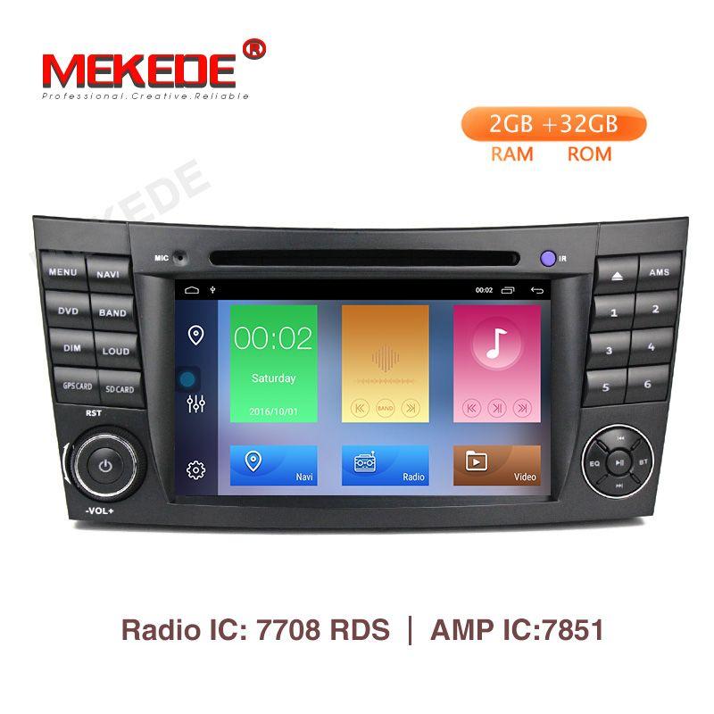Mekede 2 GB + 32 GB Auto Multimedia Player Android 9.1 DVD Player Für Mercedes/Benz/E-Klasse /W211/E300/CLK/W209/CLS/W219 GPS Radio