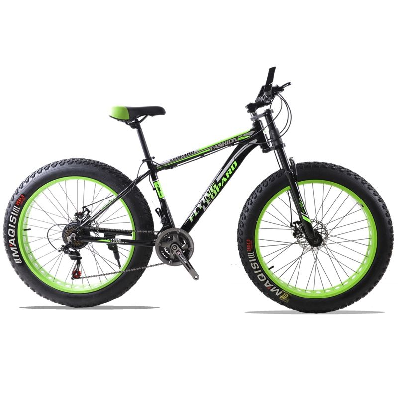 Mountain bike aluminum frame 21/24 speed Shimano mechanical brakes 26 x 4.0 <font><b>wheels</b></font> long fork Fat Bike bicycle road bike