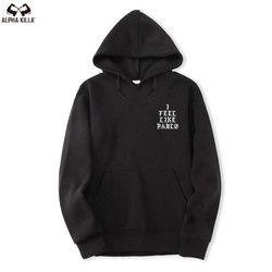 Takut Tuhan Paul'S Hidup Pablo Hoodie Pria Kanye West Hip Hop Olahraga Olahraga Kaus Tarik Paris Saya Merasa Seperti Paul Pablo