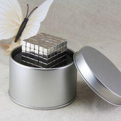 1 Unidades 216 piezas fuerte Bloque 5x5x5mm N50 Cuboid de la tierra rara NdFeB neodimio imán + caja de la lata del regalo libre