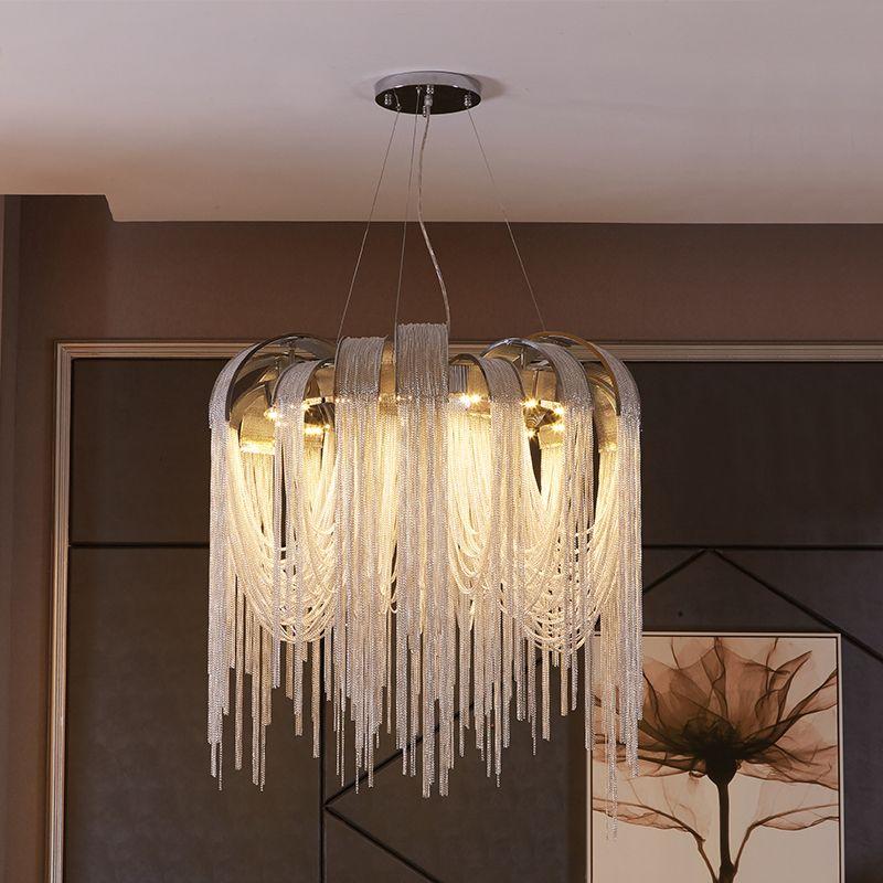 Nouveau design LED lustres en aluminium lumière de luxe D650mm or/argent peut être personnalisé