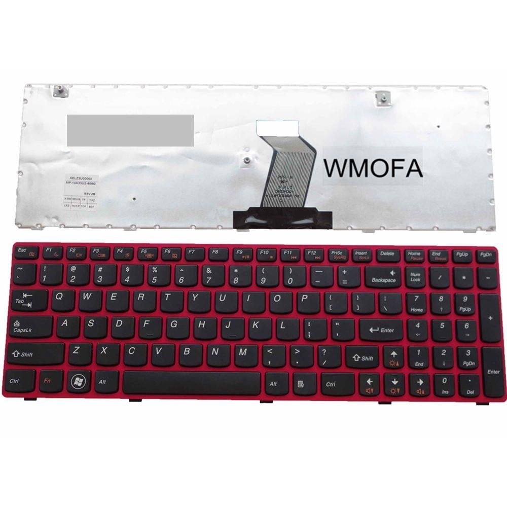 NOUS rouge Nouveau Anglais Remplacer clavier d'ordinateur portable Pour Lenovo G580 G585 Z585 Z580A B580 G770 G590