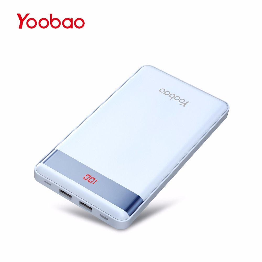 Yoobao P20000L 20000 mAh batterie externe double sortie USB/entrée chargeur Portable avec affichage numérique batterie externe mince Powerbank