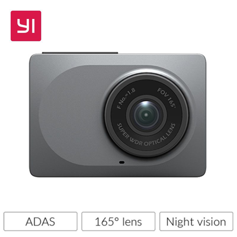 YI Dash Camera 2.7 Screen Full HD 1080P60fps 165 degree Wide-Angle Car DVR Vehicle Dash Cam with G-Sensor Night Vision ADAS