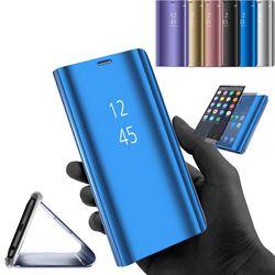 Smart Mirror ver caso para Samsung Galaxy S8 S9 más S7 borde S6 Nota 8 5 cubierta del tirón para Samsung j3 J5 J7 2017 A3 A5 A7 A8 2018