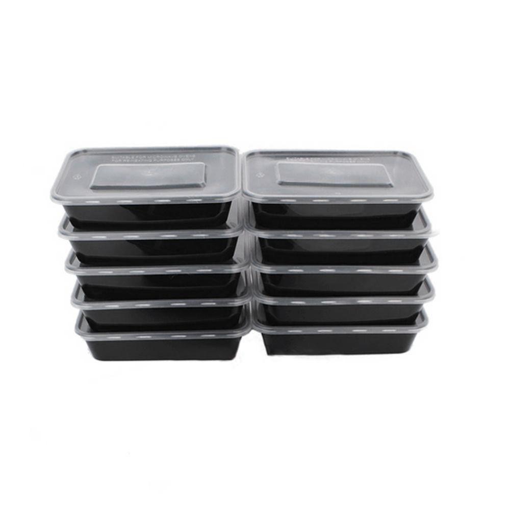 10 Pcs 3 Compartiment Conteneurs De Stockage Des Aliments Avec Couvercles Bento Boîte À Lunch de Qualité Alimentaire En Plastique Boîtes