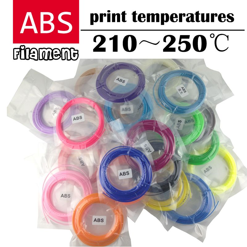 3d pen plastic ABS filament 1.75mm 3D Printer Filament Materials (5/10Meters/color <font><b>total</b></font> 100M) and (10M/color <font><b>total</b></font> 200M)