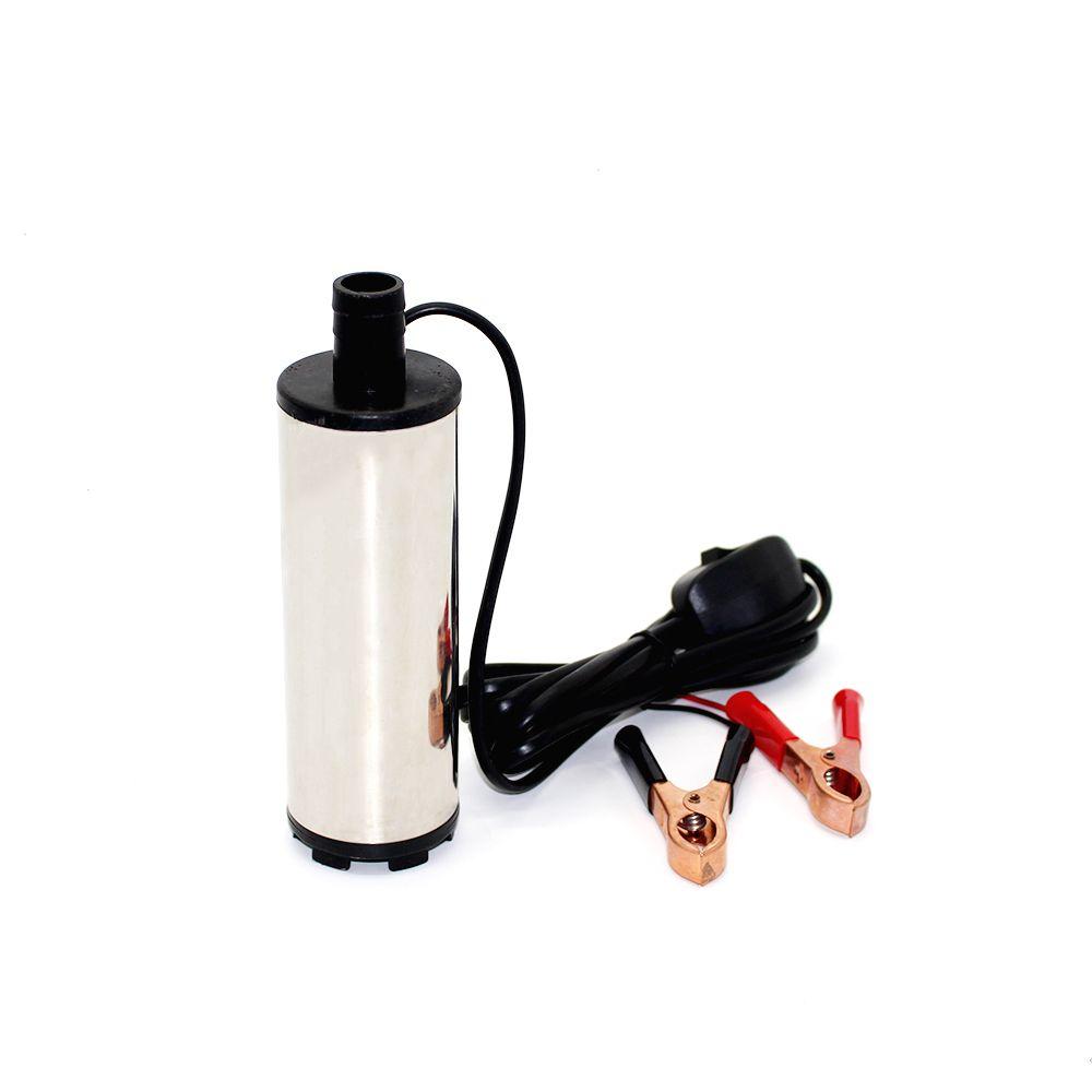 DC 12 V électrique pompe de transfert de carburant 30L/Min pompe à Huile eau Submersible diesel pompe Diamètre 51 MM inoxydable acier
