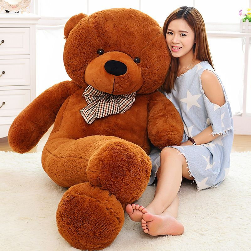 Large Size 160cm 180cm 200cm 220cm Giant Plush Stuffed Teddy Bear Big Kawaii Soft Huge Toys Toy Big Embrace Bear Kids Doll Gift