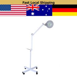 Pembesar Lampu Lantai 8X Lensa Pembesar Lampu LED Lantai dengan Stand Fleksibel Lengan Yang Dapat Disesuaikan Cahaya Dingin Lampu Baca