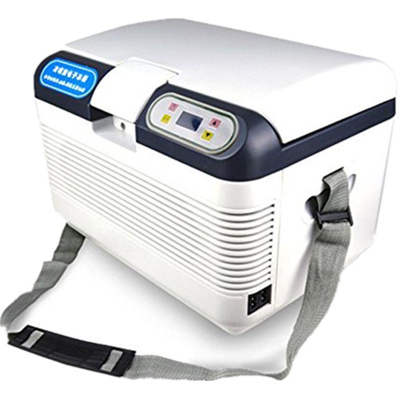 HCOOL 12L Home Refrigerator 220V/12V Electric Car Refrigerator Portable Digital Timer Control Constant Temperature Refrigerator
