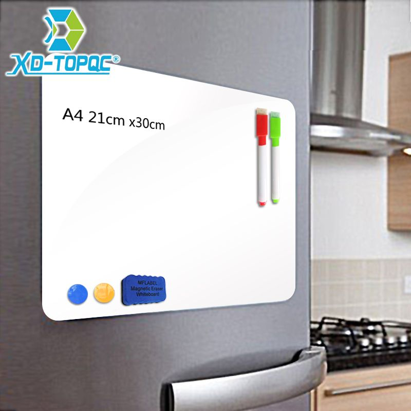 XINDI A4 21*30cm Soft Fridge Magnets <font><b>Flexible</b></font> Mini Whiteboard PET Film Message Board Magnetic Notes Refrigerator Memo Pad FM01