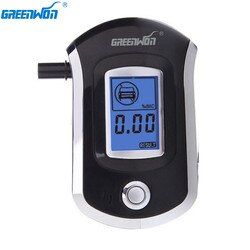 GREENWON Digital Breath Alcohol Tester Breathalyzer AT6000 alcohol breath tester breathalzyer lock box ethyl alcohol detector