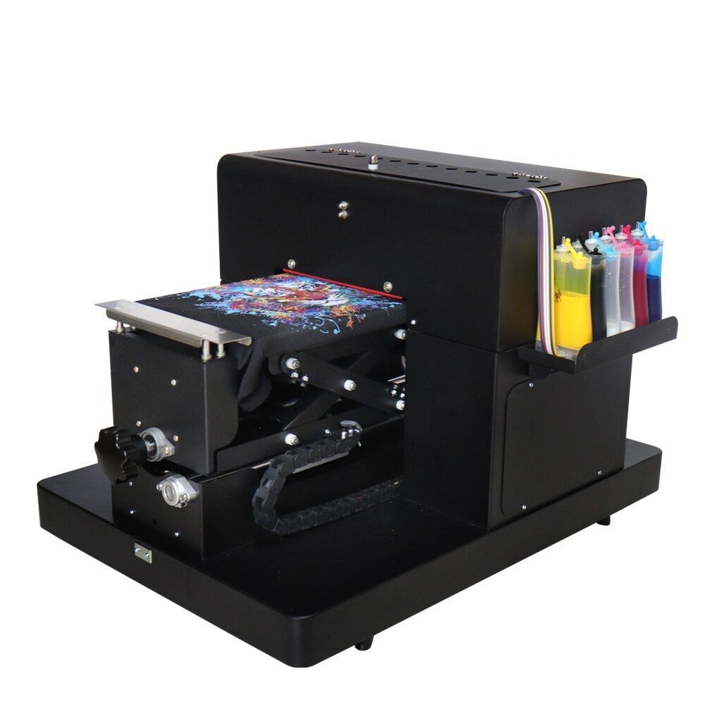 DTG Printer A4 Flatbed Printer For T-shirt PVC Card Phone Case Printer Plastic Multicolor Printing Machine High Quality