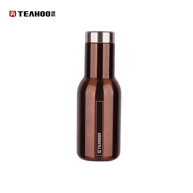 TEAHOO Multicolour Fashion Whisky Thermos 304 Stainless Steel Water Bottle Heat & Cold Preservation High Vacuum Bottle Outdoor