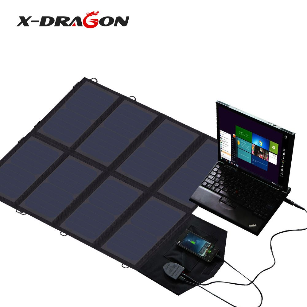 X-DRAGON Tragbare Solar Panel Ladegerät 5 V 12 V 18 V für iPhone iPad Macbook Samsung HTC LG HP Lenovo Acer Tragbaren Generator.