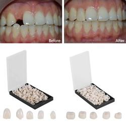 50Pcs/Box Dental Crowns Resin Porcelain Materials Temporary Teeth Crown Realistic Oral Care Teeth Whitening Anterior Molar Crown