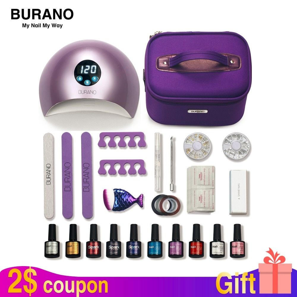 BURANO nail set gel polish 30 days lasting nail kit gel everything for manicure set nail set nail art tools