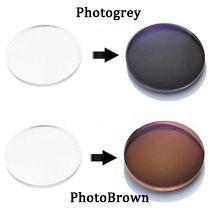 1.56 Transition Photochromiques Lunettes Lentilles Optiques Pour lunettes de Soleil De Myopie Degré Grau
