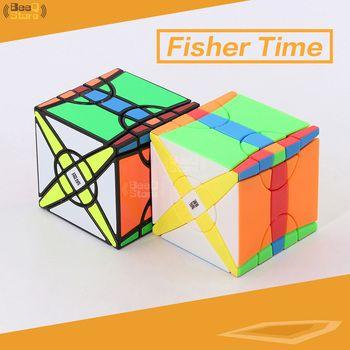 MoYu  Yileng Fisher Time Wheel Cube Magic Cube Puzzle Toy for Competition Black Stickerless Strange-shape Twist Cube
