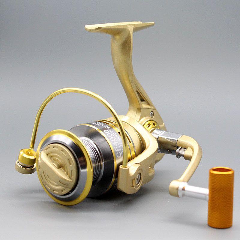Топ продукт Карп Рыбалка прялка 1000-6000 Все Мател ручка Сильный катушку 10BB морской Okuma подачи муха рыбалка катушка
