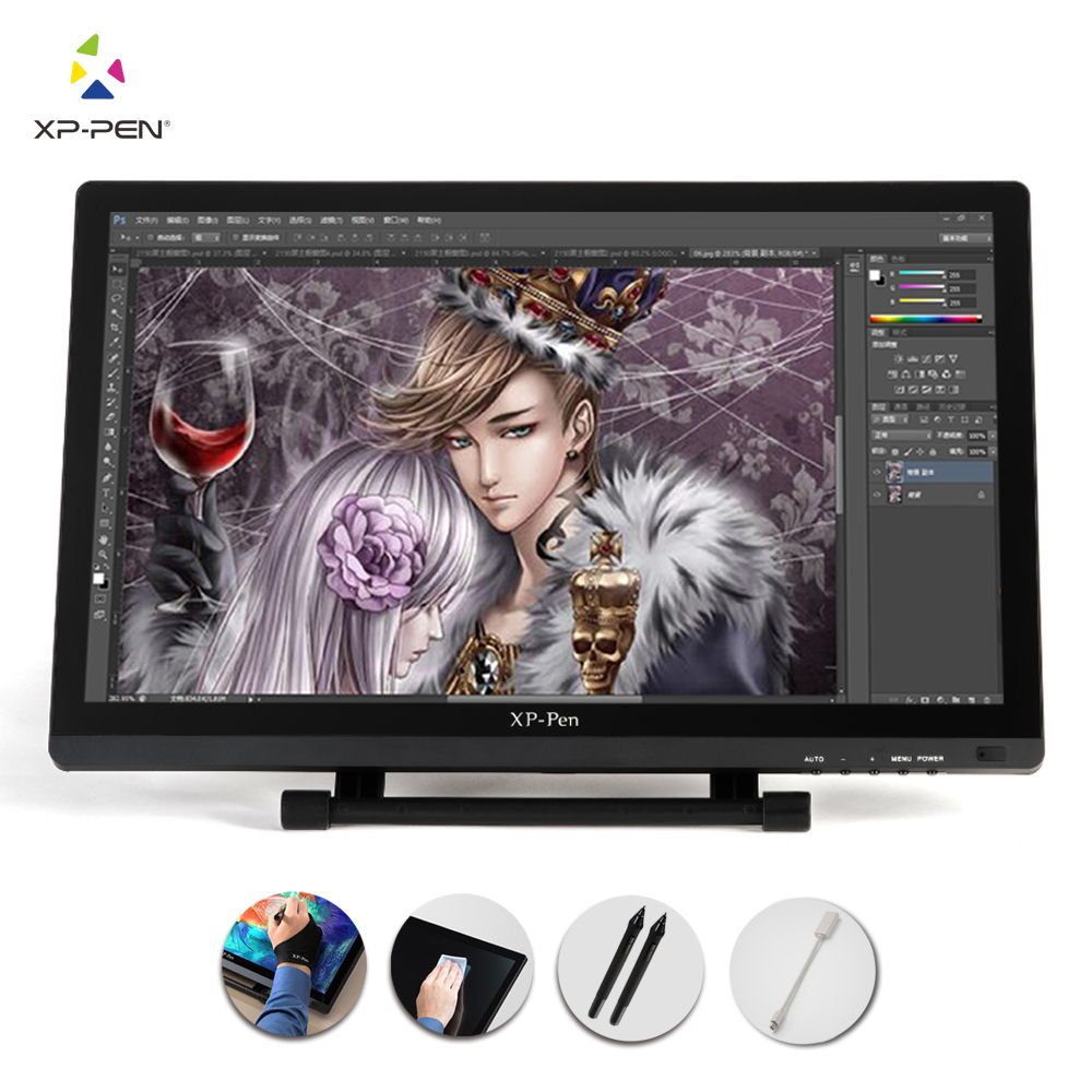 XP-Pen 21.5 HD IPS Graphic Tablet Interactive Monitor Full View Angle Extended Mode Display for Apple Macbook supporting HDMI