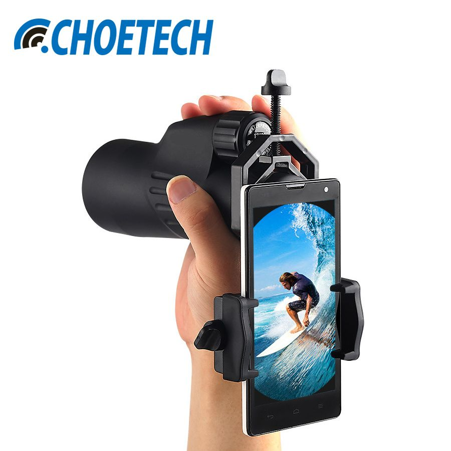 CHOETECH Universal Adjustable Cell Phone Adapter Mount Telescope And Microscope Smartphone Holder For iPhone X 8 Plus