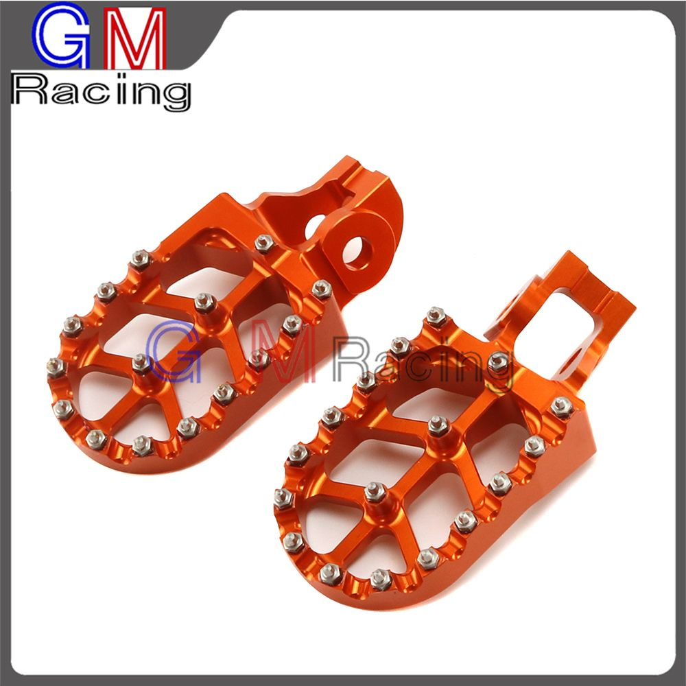 Motorcycle CNC Foot pegs Rest Pedals For KTM SX SXF EXC EXCF XC XCF XCW 125 150 200 250 300 350 400 450 500 2016 2017 2018