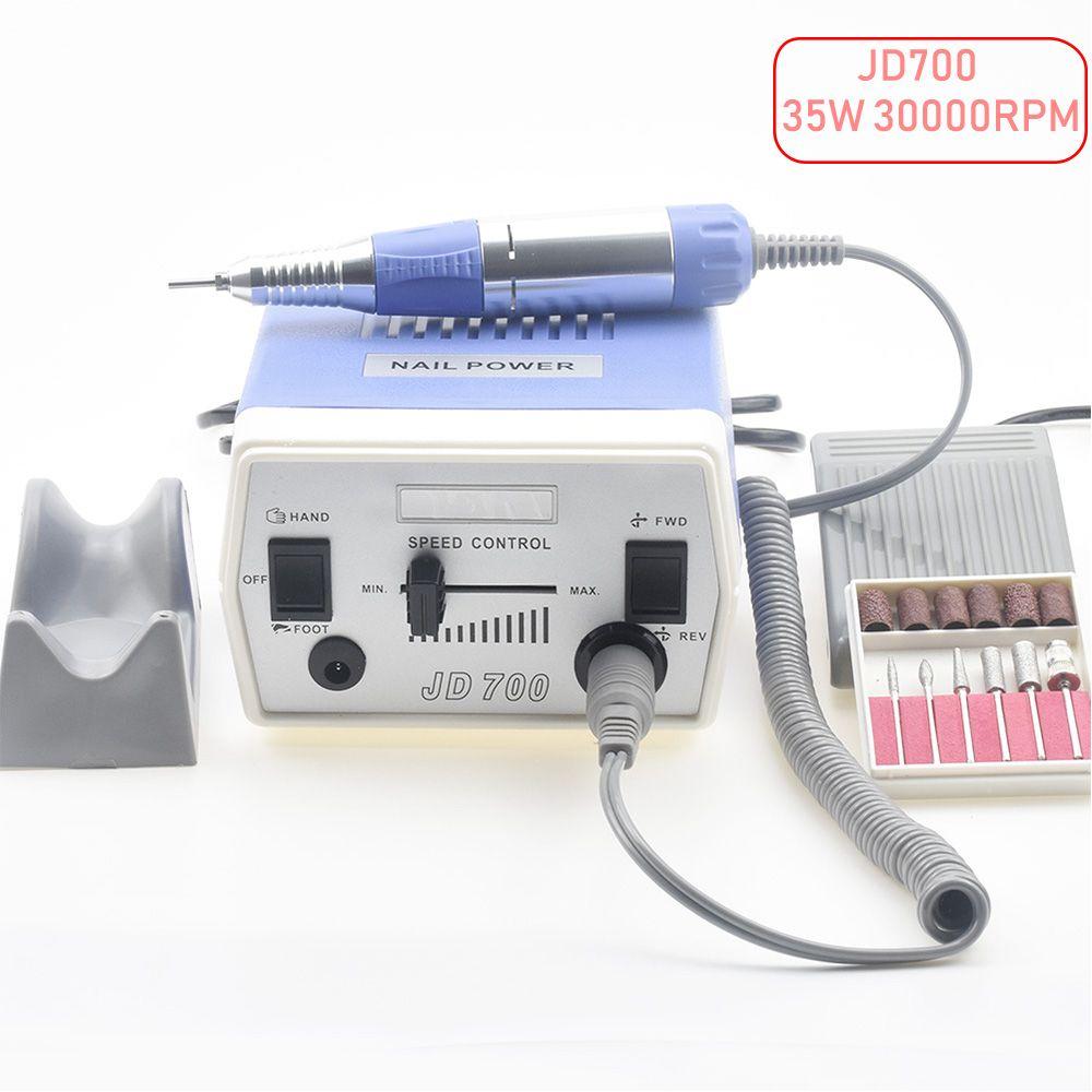 35 watt 30000 rpm Elektrische Nagel Bohrer Maschine Maniküre Pediküre Dateien Tools Kit Nagel Polierer Schleifen Verglasung Maschine Für Gel polnisch