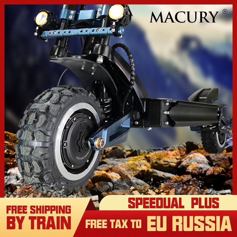 Macury Speedual Plus 11 Zoll Dual Motor Elektrische Roller 72 V 3200 W Off-road E-roller 110 km/h Doppel Stick Null 11X Off Road