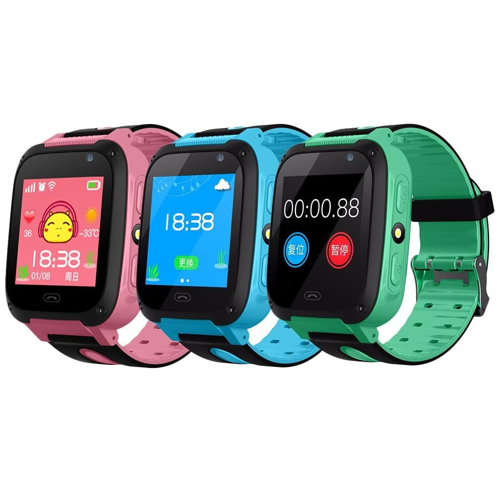 V6 Smart Watch Baby With SMART CLOCK GPS Tracker Bluetooth Anti Lost Monitor SOS IP67 Phone Smartwatch Kids For IOS Android
