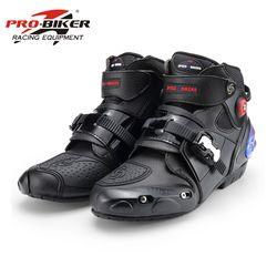 Botas de moto PRO-BIKER tobillo botas Racing BIKERS cuero race Motocross moto botas de montar zapatos A09003