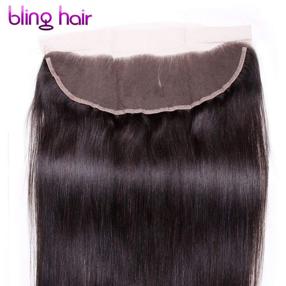 Straight-peruvian-hair Remy Peruvian Straight Human Hair 13x4 Lace Frontal Natural Color 10 To 22 Inch 130% Swiss Lace Closure