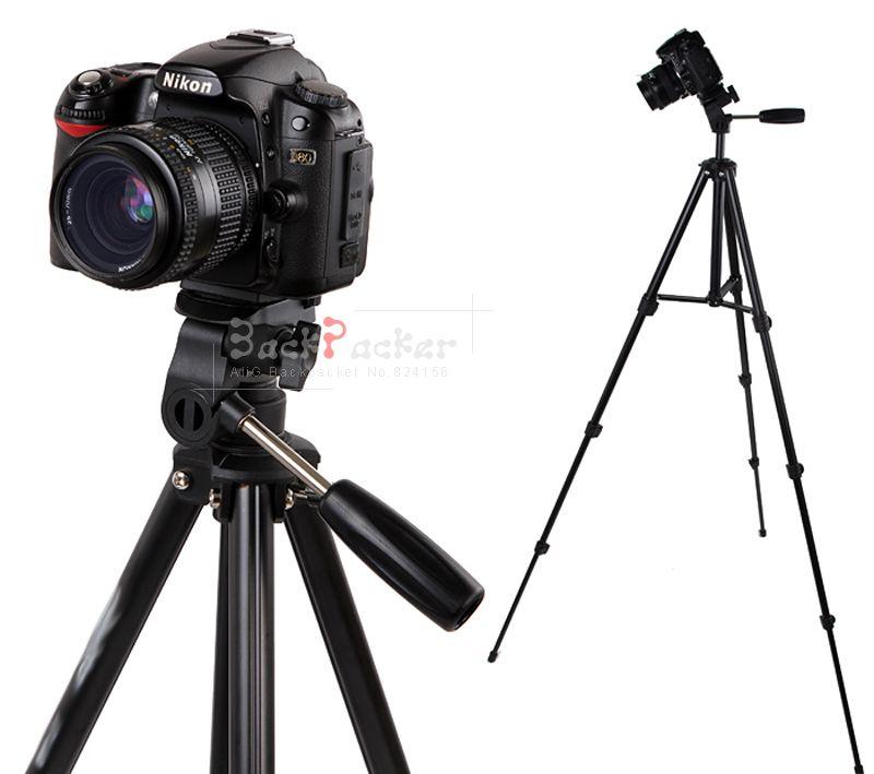 Professionnel en aluminium portable caméra caméscope trépied pour nikon d3100 d3200 5100 d5200 d5300 pour canon 70d 800d 700d
