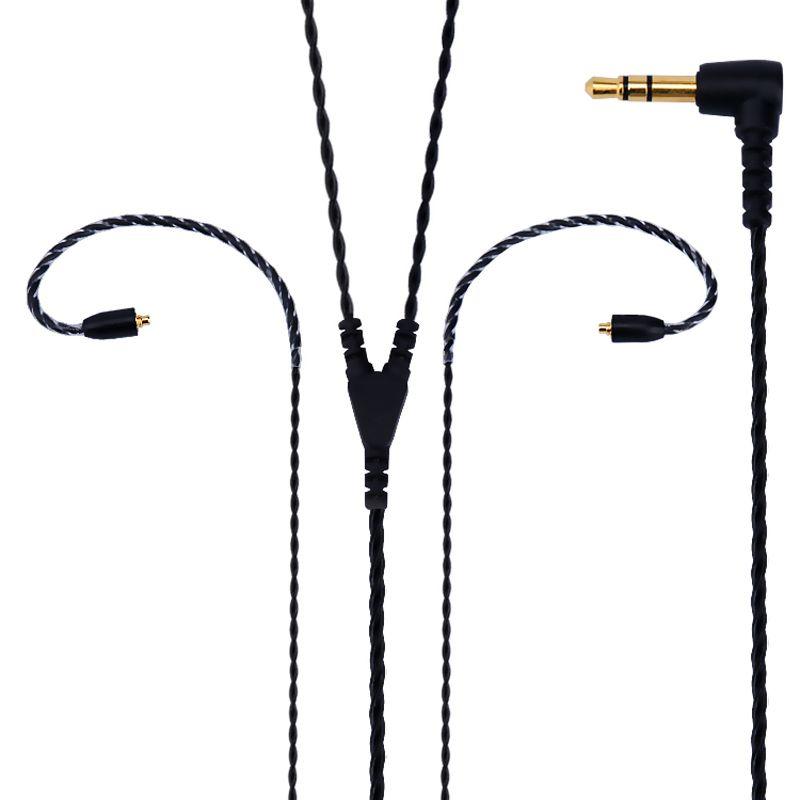 Супер мягкий без стетоскоп эффект с серебряным покрытием кабель наушников для Shure SE215 SE315 SE425 SE535 SE846 UE900