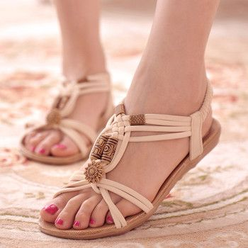 Femmes Sandales 2018 D'été Casual Chaussures Bohême Femmes Chaussures Nouvelle Mode Plage Sandales Solide Femmes Flip Flops