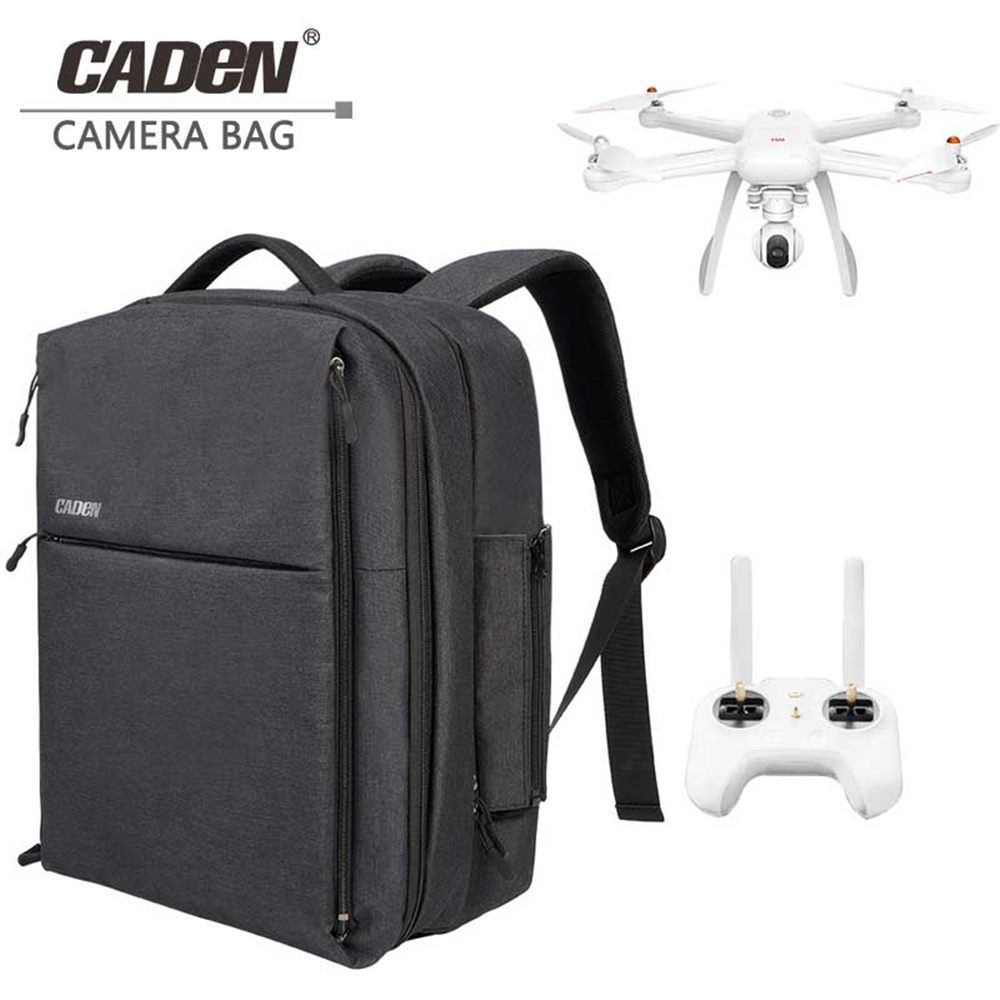 CADeN W8 drone laptop camera bag case hard backpack business luggage travel shoulder bag with Rain Cover for Xiaomi mi rone