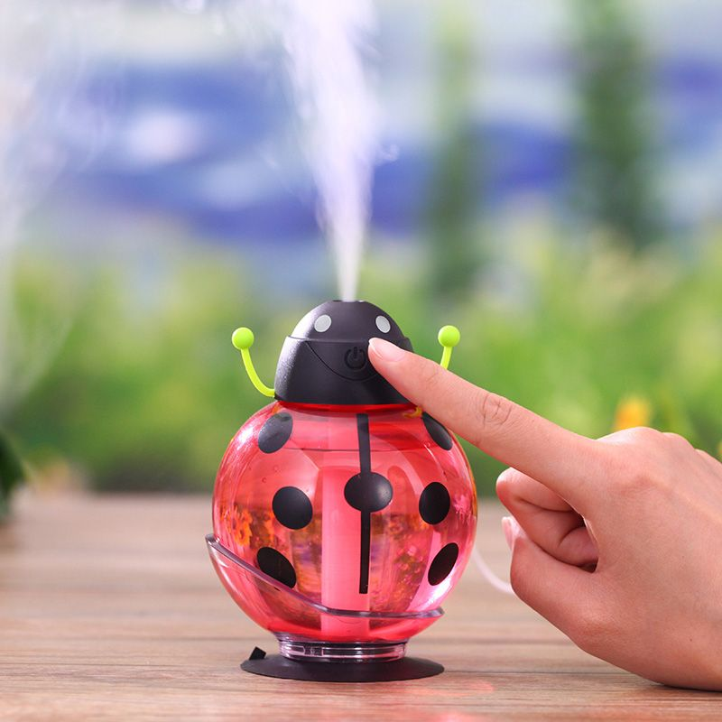 Beetle 260ml humidifier USB Humidifier Aroma diffuser Aromatherapy Essential oil diffuser Mini Portable Mist Maker  LED Night