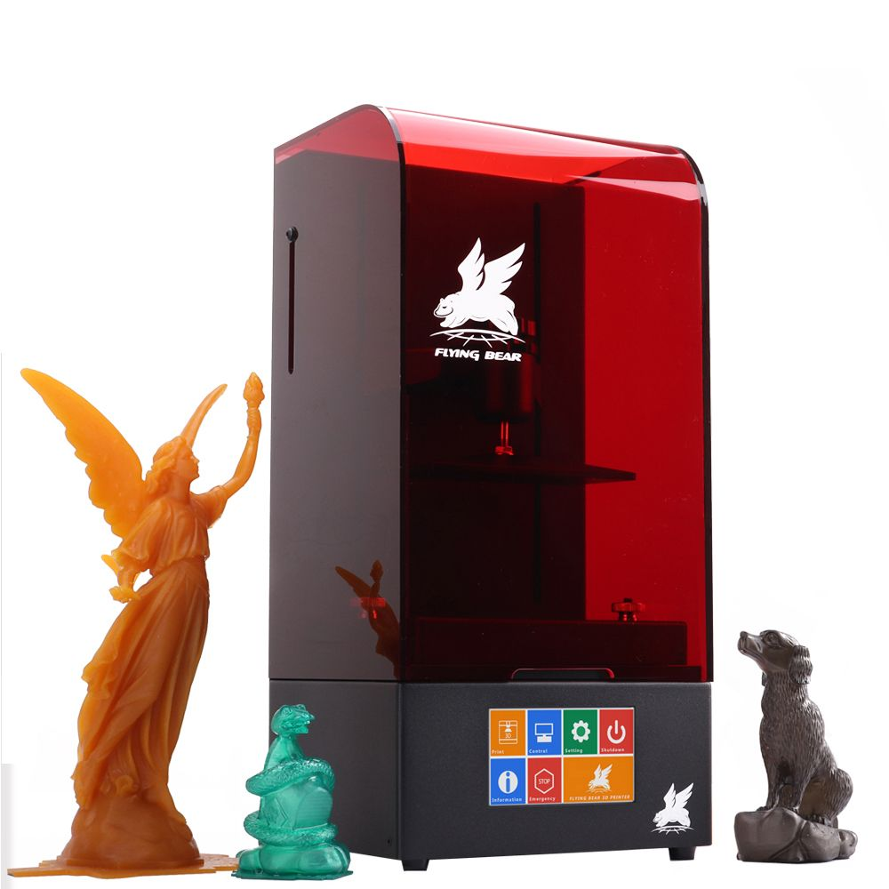 2018 Newest Flyingbear Shine UV Resin High Precision LCD DLP 3D Printer WiFi Ball screw 4.3 Touchscreen Plus Size