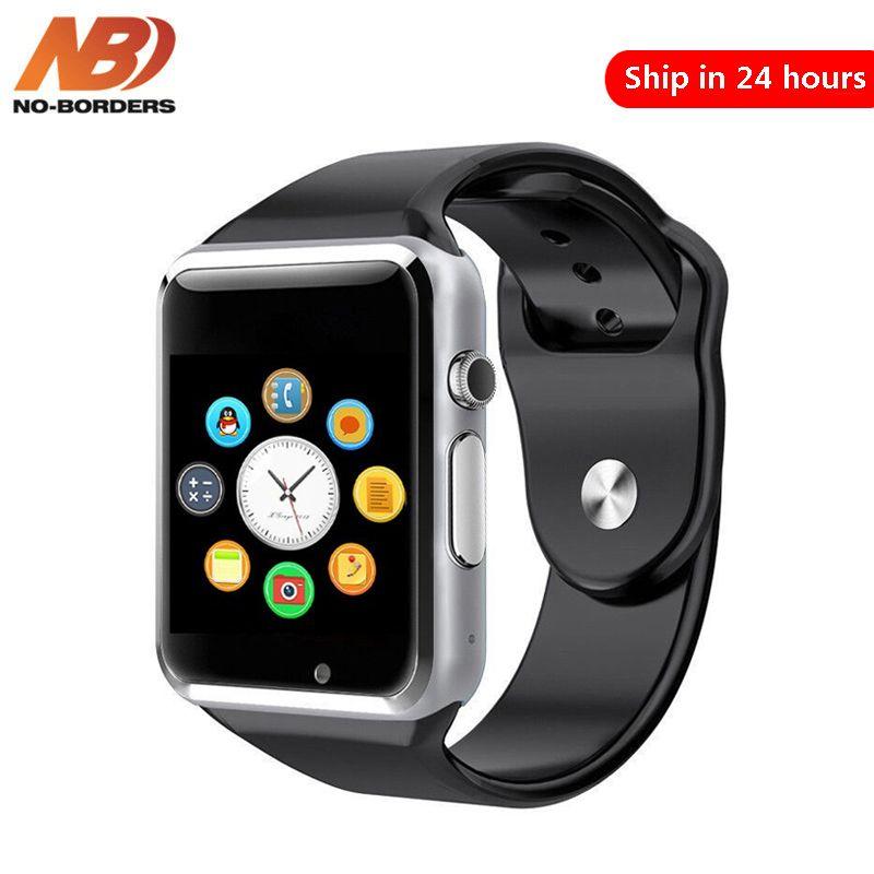 Sans frontières A1 montre-bracelet Bluetooth montre intelligente Sport podomètre avec caméra SIM Smartwatch pour Android HUAWEI pas GT08 DZ09