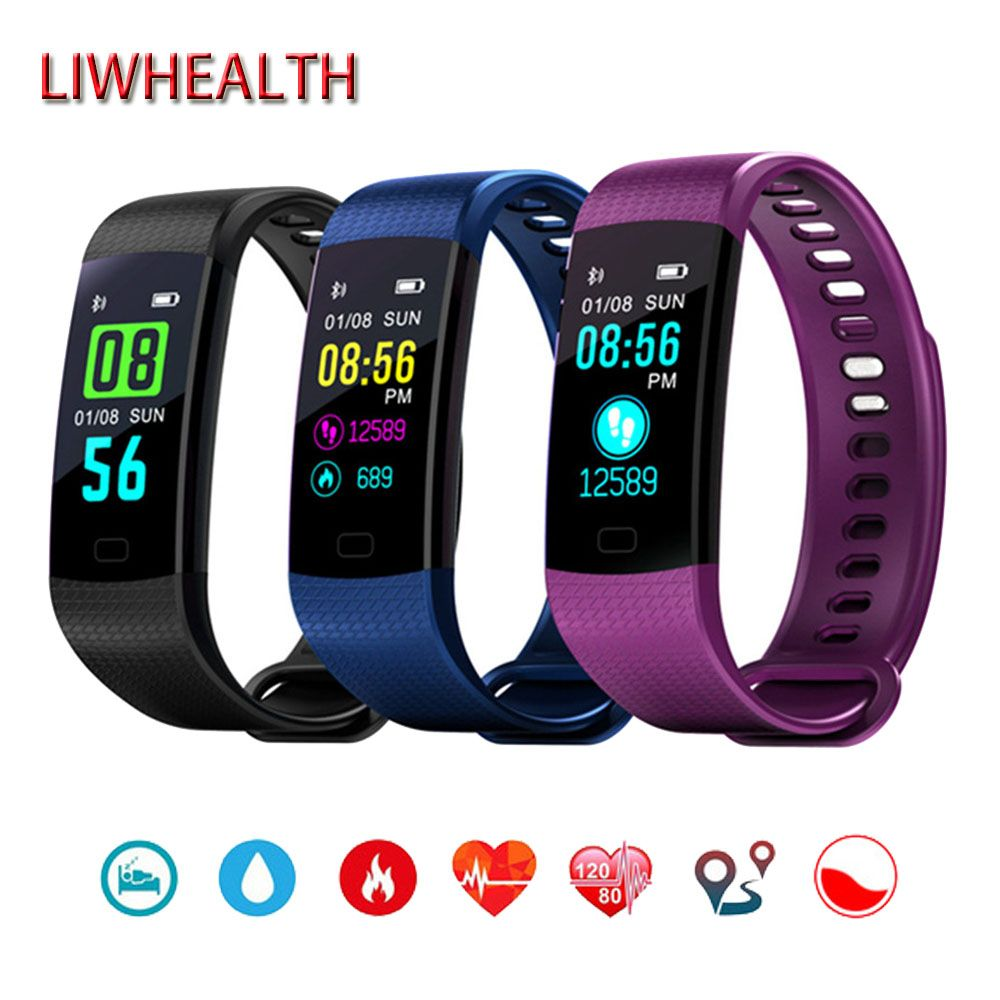 Cheap Color Bluetooth Smart Watch Men/Women/Child Band HR/BP/O2 Health Fitness Smartwatch For Apple/Honor/Sony Montre Connect Y3