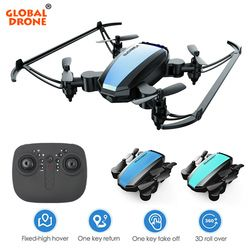 Global Drone GW125 Mini Quadrocopter Dron Radio-Controlled Foldable RC Helicopter Drones Quadcopter Toys for Kids VS H36 E61 S9W