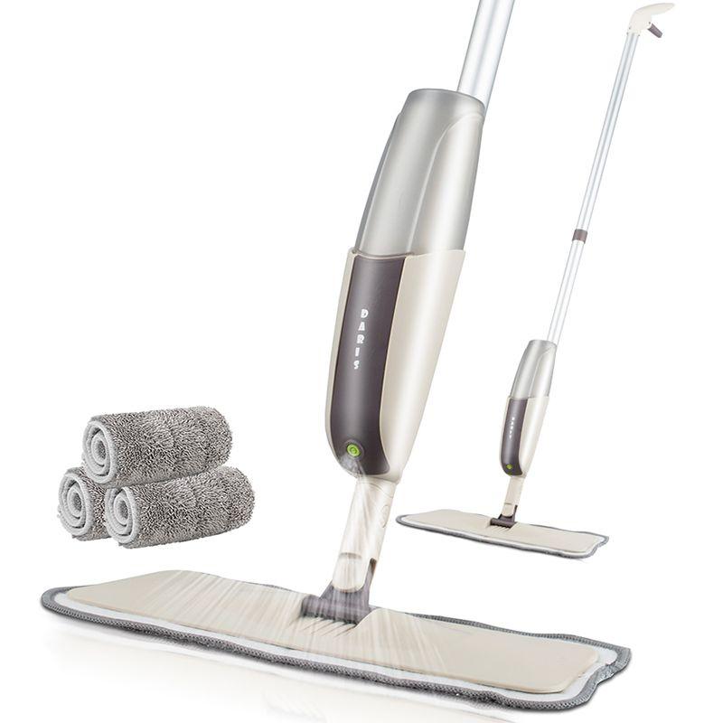 Vadrouille de pulvérisation pour planchers de bois franc vadrouille à poussière avec tampon lavable en microfibre pour un nettoyage rapide avec une bouteille d'eau rechargeable