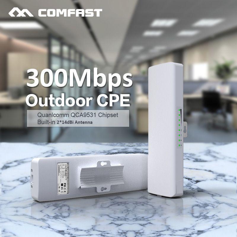 Comfast CF-E314N 2.4G routeur extérieur sans fil 3KM amplificateur de Signal WIFI amplificateur WDS pont réseau 2 * 14dBi antenne accès wi-fi